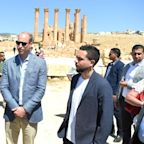Prince William visits ruins in Jordan where Duchess of Cambridge was photographed as a child