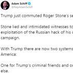 Trump spares longtime adviser Stone from prison