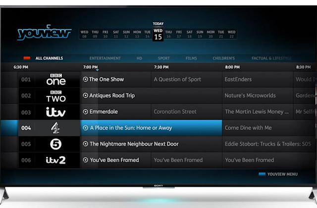 YouView lands on Sony's Bravia TVs next month, no set-top box needed