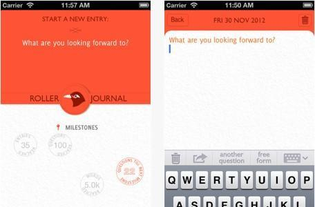 Daily iPad App: Q & A Diary - Roller Journal uses questions to keep your journal entries lively