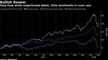 Hong Kong Stocks End Year of Rooster With Best Surge Since 2015