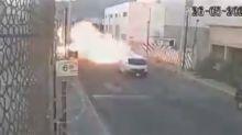 VIDEO | Captan el momento exacto en el que explotó una pipa de gas en Coacalco, Estado de México