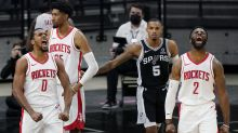 Rockets rally past Spurs 109-105 in 1st game without Harden