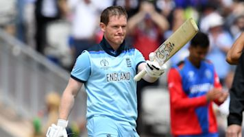 World record 17 sixes for Morgan against Afghanistan