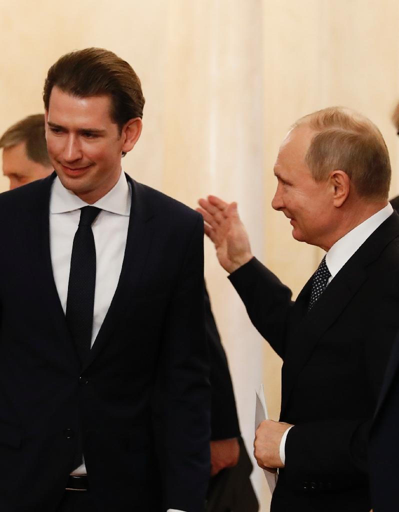 Austrian Chancellor Sebastian Kurz says he wants to keep communication open with Russian President Vladimir Putin (AFP Photo/GRIGORY DUKOR)