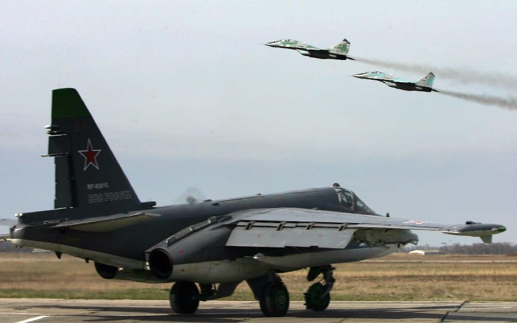Russian warplanes have been flying over Syrian territory since September 30 (AFP Photo/Sergey Venyavsky)