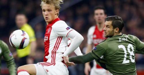 Foot - C3 - Ajax - Ajax Amsterdam : Kasper Dolberg est titulaire contre l'OL en demi-finale aller de Ligue Europa, Kluivert remplaçant