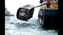 Subway cars dumped into ocean, help build reef