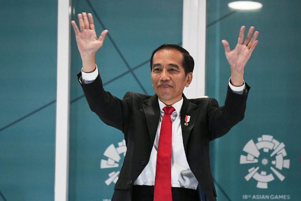 Indonesian President Joko Widodo declared the Games open. (AFP Photo/Jewel SAMAD)