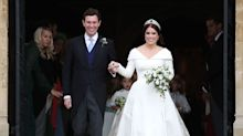 Princess Eugenie and Jack Brooksbank's wedding outfits go on display