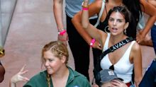 Emily Ratajkowski defends right to go braless at protest