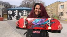 'This is a neechi board': Winnipeg Indigenous artist paints skateboards for West Broadway kids
