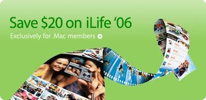Apple offers $20 iLife '06 discount to .Mac customers