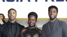 'Black Panther' star Chadwick Boseman suits up in Singapore fashion brand at Seoul premiere