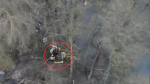 Dramatic rescue after girl falls through frozen river