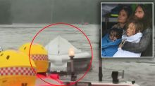 Family rescued from floods TWICE after SES boat capsizes