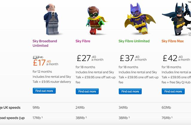 Sky broadband ads now show the speeds you'll actually get