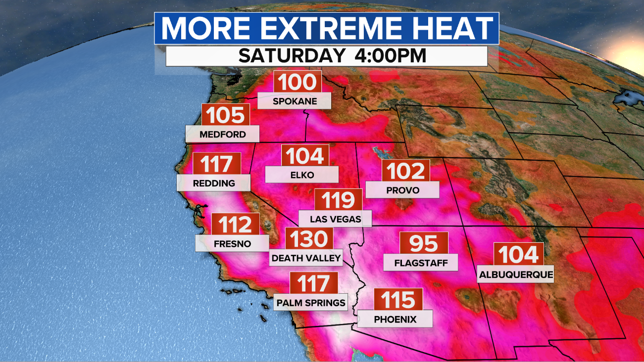 Another extreme heat wave in West threatens all-time highs