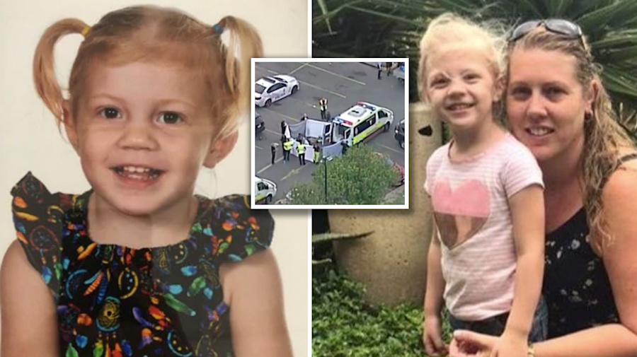 Girl, 3, killed in car park remembered as 'cheeky' and 'happy'