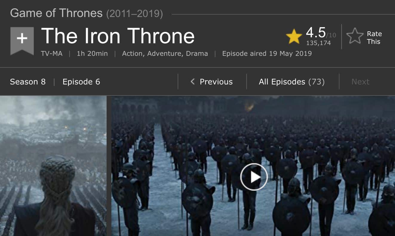 IMDB分數僅有4.5分