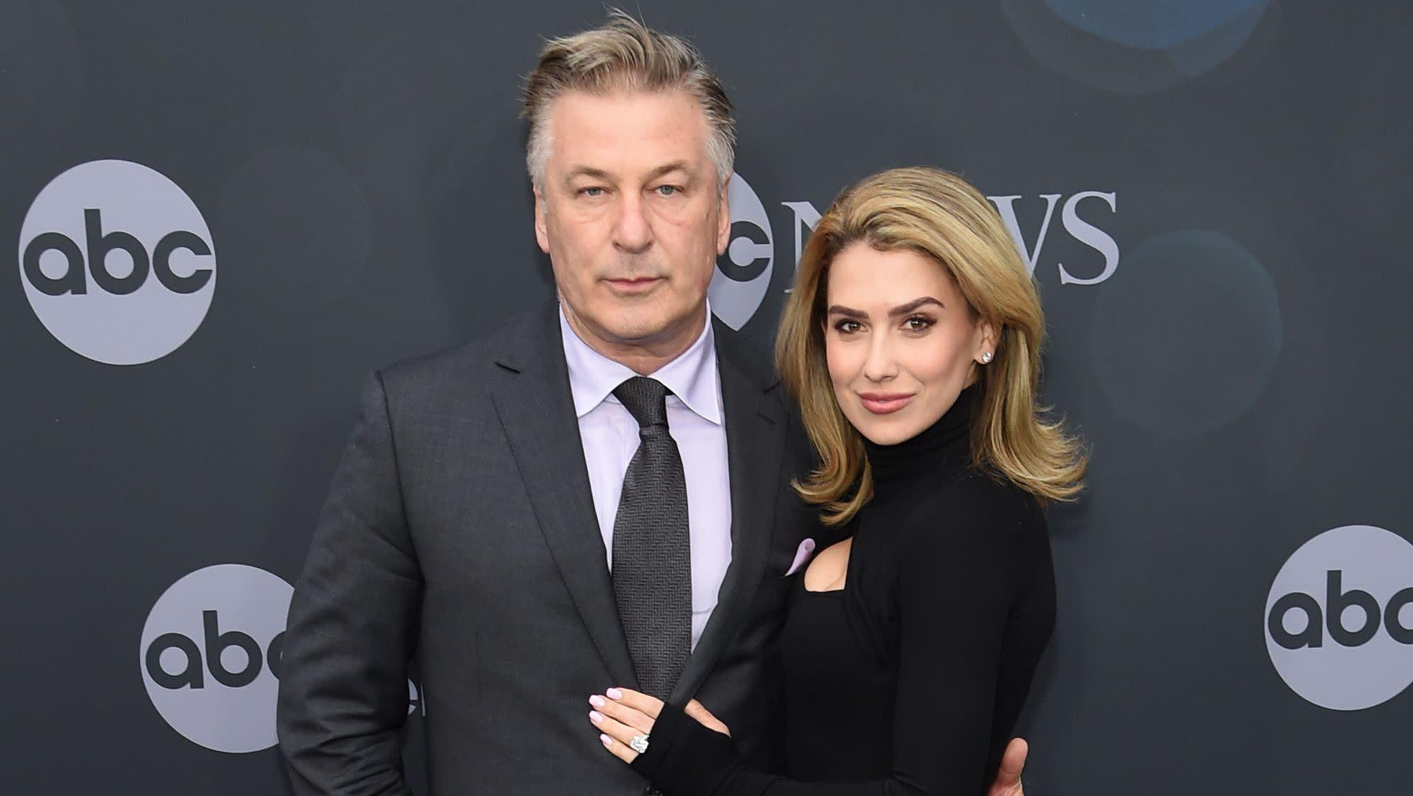 Alec Baldwin and his pregnant wife Hilaria Baldwin attend