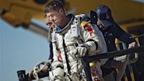 Skydiver lands safely on earth after jump from stratosphere