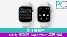 無手機都得 Spotify 測試經 Apple Watch 串流播放