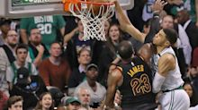 Jayson Tatum has massive photo of his posterizing dunk over LeBron James up in his house