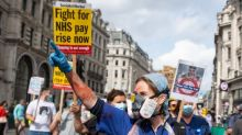 NHS marches: Workers demand better wages during protests in London and across the UK