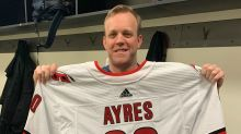 Emergency backup David Ayres had 'time of his life' in win for Hurricanes