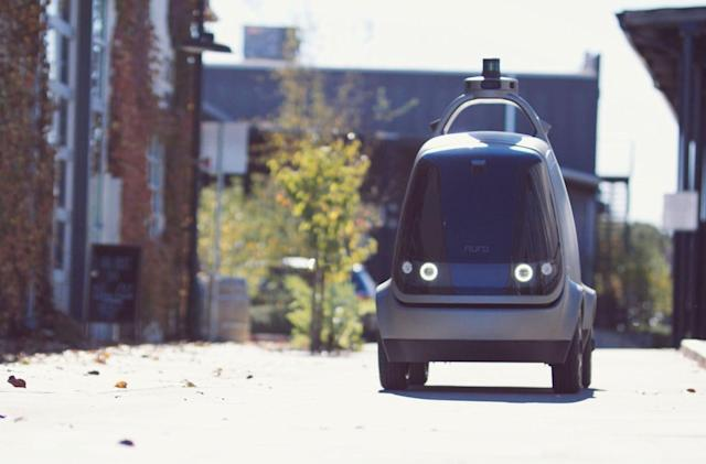 Nuro's self-driving vehicle carries packages, not passengers