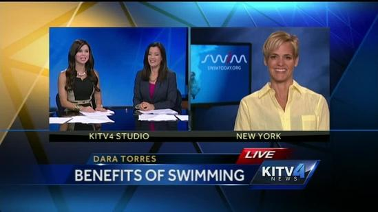 Five- time Olympic Swimmer talks to KITV this morning