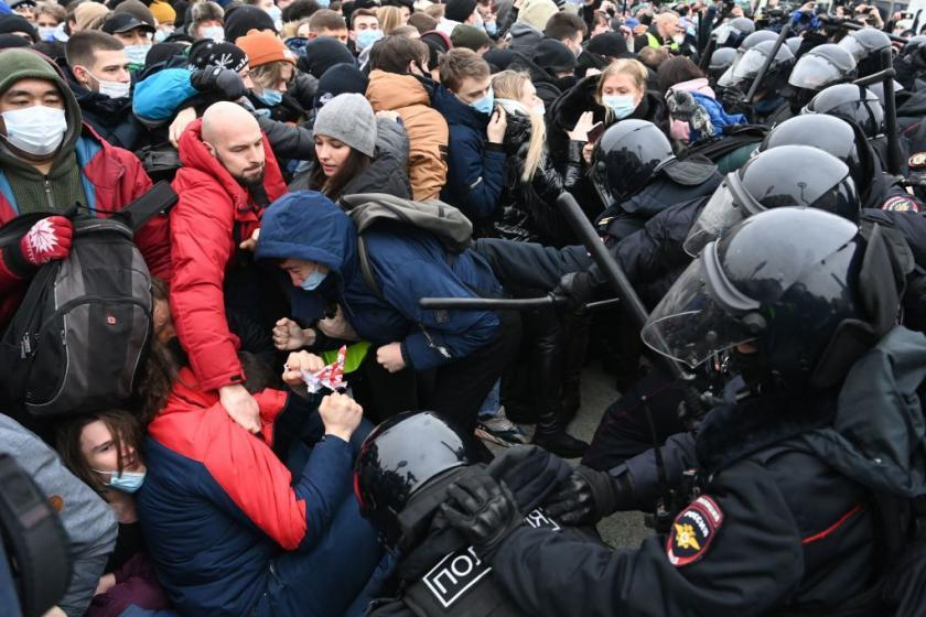 Navalny's wife reportedly among more than 1,000 detained in nationwide Russian protests