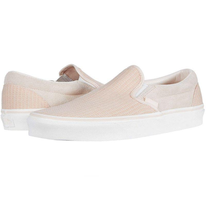 """<p><strong>Vans</strong></p><p>zappos.com</p><p><strong>$49.50</strong></p><p><a href=""""https://go.redirectingat.com?id=74968X1596630&url=https%3A%2F%2Fwww.zappos.com%2Fp%2Fvans-classic-slip-on-gingham-racing-red-true-white%2Fproduct%2F7213526&sref=https%3A%2F%2Fwww.marieclaire.com%2Ffashion%2Fg30859606%2Fslip-on-sneakers%2F"""" rel=""""nofollow noopener"""" target=""""_blank"""" data-ylk=""""slk:SHOP IT"""" class=""""link rapid-noclick-resp"""">SHOP IT</a></p><p>Once a Vans girl, always a Vans girl. If this statement describes you to a T, opt for a woven version of your favorite brand's slip-on sneakers. The light color makes it ideal for summertime wear.</p>"""