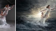 Antes y después: el asombroso mundo de fantasía de este fotógrafo con ayuda de Photoshop