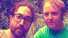 The return of Beatlemania? Musical sons of John Lennon and Paul McCartney, Sean and James, team up for a selfie