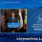 Los Angeles Mayor Urges Residents to Wear Masks When They Leave Home