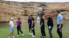 Golf fans were in awe of the beautiful 19th hole at Tiger Woods' new course