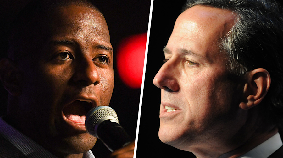 Gillum rips Santorum's 'ridiculous' stance on guns