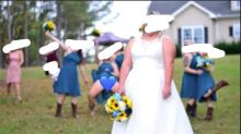 Bridemaid's X-rated stunt slammed online