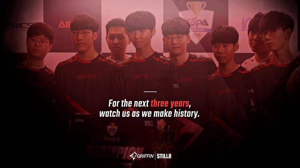 奪下去年歲末KeSPA 盃冠軍的韓國勁旅Team Griffin(GRF)今(9)日全員續約至2021年。圖:翻攝自 Team Griffin 官方推特