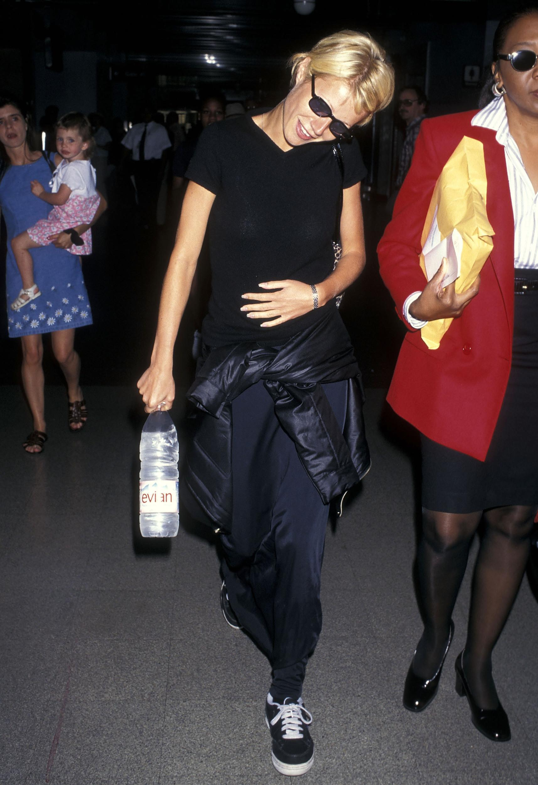 Actress Gwyneth Paltrow departs for New York City on July 30, 1997 from the Los Angeles International Airport in Los Angeles, California. (Photo by Ron Galella, Ltd./WireImage)