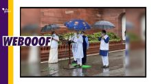 No, PM Modi Isn't Holding a Jio Umbrella; Picture Is Morphed!