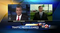 I-4 traffic moves again after concrete blockage removed