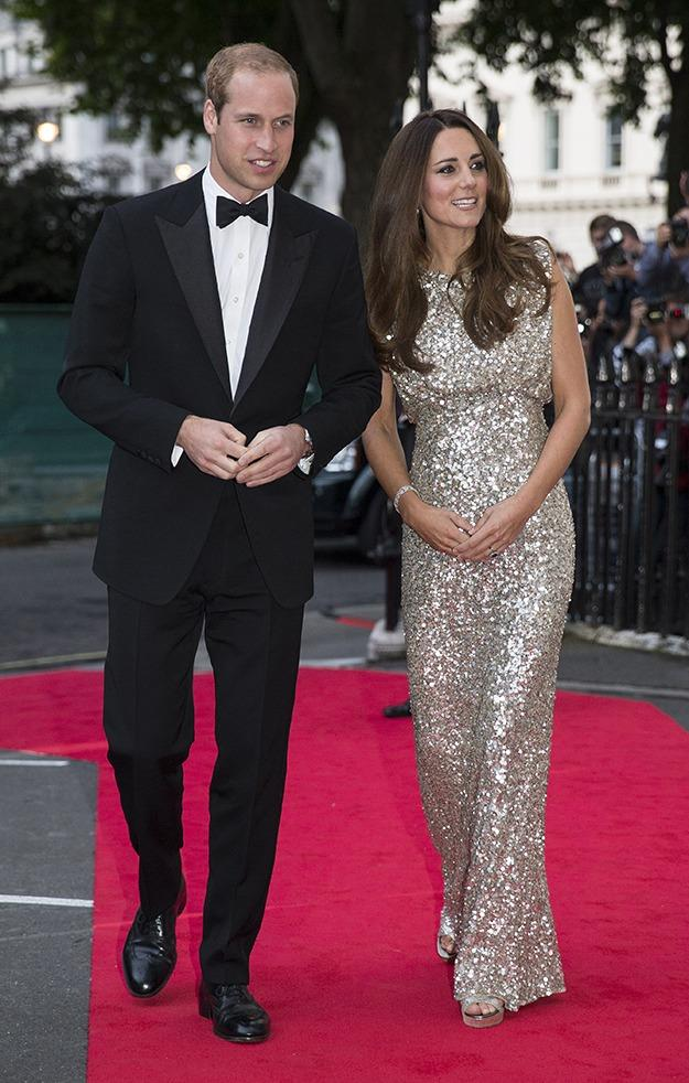 Kate and William attended a gala for the Tusk Trust, Kate glittering in Jenny Packham.