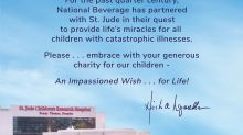 National Beverage Warmly Embraces the Kids of St. Jude