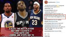 Kevin Durant responds to teen's spicy Instagram take with headlong dive into DMs