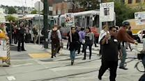 Protesters shut down Muni for Kenneth Harding