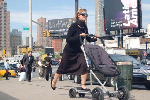"""<p>Strolling around with a baby in a buggy is all very well and good, but what if you're tired of strolling, or you're in a hurry?</p>  <p>If you need to speed things up then inventor <a href=""""http://valentinvodev.com/Roller-Buggy"""" target=""""_blank"""">Valentin Vodev </a>has the answer, with the scooter/buggy hybrid. So far the prototype is not on the market, but surely it can only be a matter of time.</p>"""