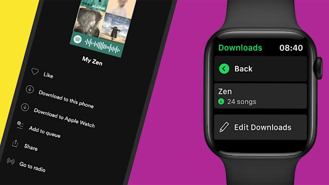 Spotify music download on Apple Watch